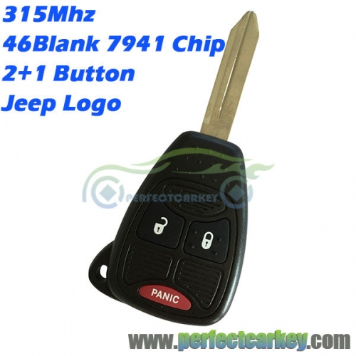 M3N5WY72XX OHT692427AA For Jeep Renegade Compass Patriot Wrangler Grand Cherokee remote head key 315Mhz 46 chip auto control