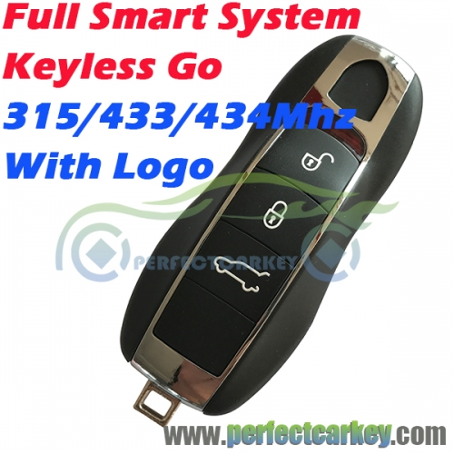 315Mhz 433Mhz 434Mhz keyless entry full smart system keyless go key for Porsche Panamera Macan Cayman 911 918 Spyder Cayenne