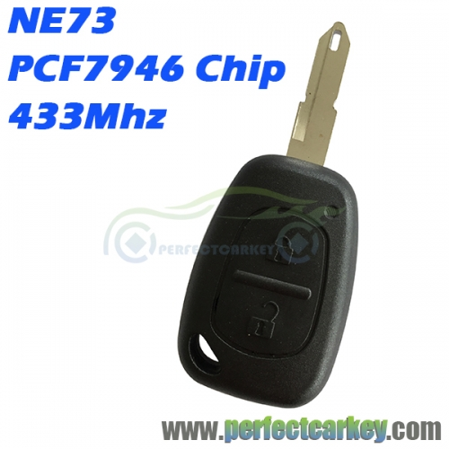 NE73 blade 434Mhz PCF7946 Electric chip 2Button car control auto remote head key for Renault Traffic Master Vivaro Movano Kango