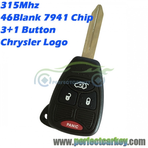M3N5WY72XX OHT692427AA 315Mhz 4button 7941 chip auto remote head key for Chrysler 300C PT Pacifica grand voyager Sebring