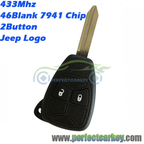 05179516AA For Jeep Renegade Compass Patriot Wrangler Grand Cherokee remote head key 433Mhz 46electric board 2button remote key