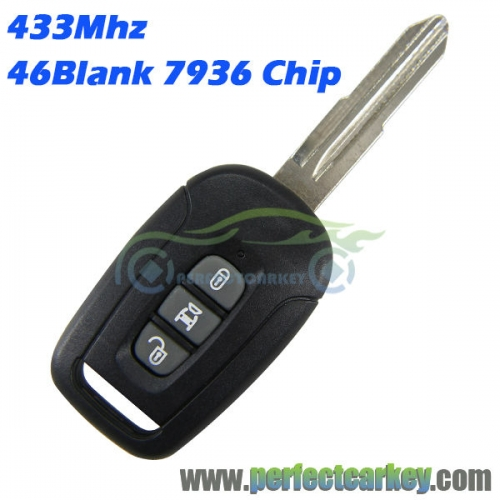 433Mhz 3button 46chip remote head key for Chevrolet Captiva