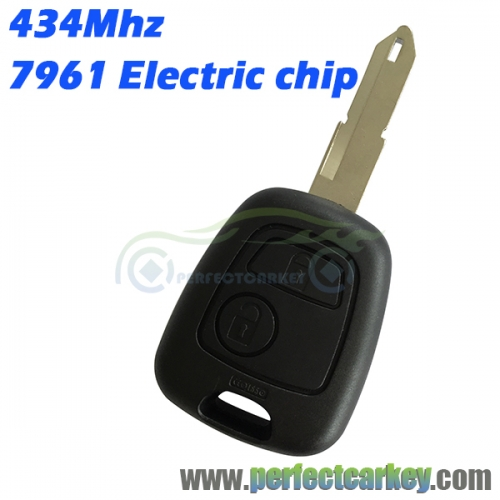 Citroen C2 2button NE72 Blade 434Mhz remote head key