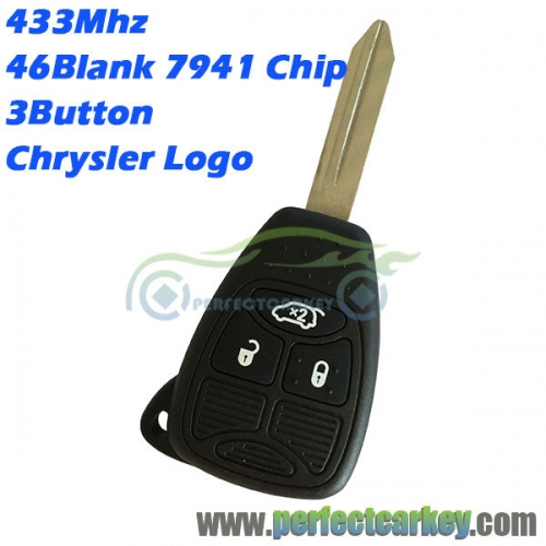 56040553AD 3button 433mhz 46Electric 7941chip remote head key for Chrysler 300C PT Pacifica grand voyager Sebring car control