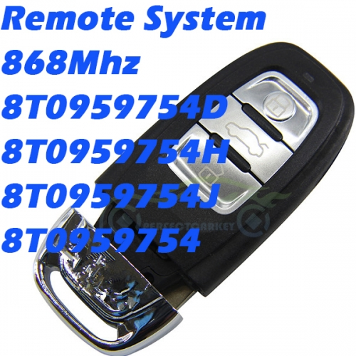 KYDZ 868Mhz 8K0959754D 8K0959754H 8T0959754J 8K0959754 car key control auto smart key for Audi A4 S4 A5 S5 RS5 Q5 Quattro