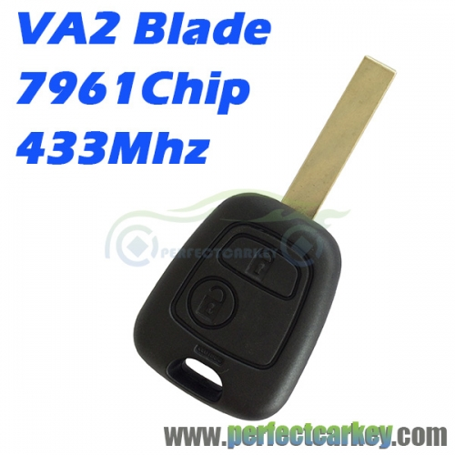 Citroen VA2 Blade 433Mhz 2button remote key
