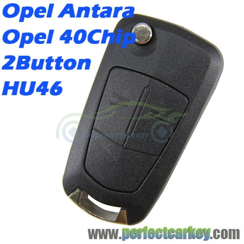 Opel Antara 2Button Opel 40Chip HU46blade flip key