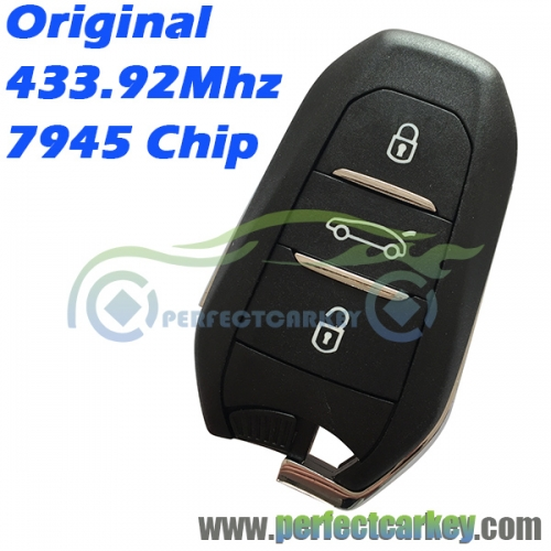 Genuine 2011DJ1873 433.92Mhz 7945 Electric chip 3Button remote smart card keyless go smart key for DS 3 4 5 5LS 6