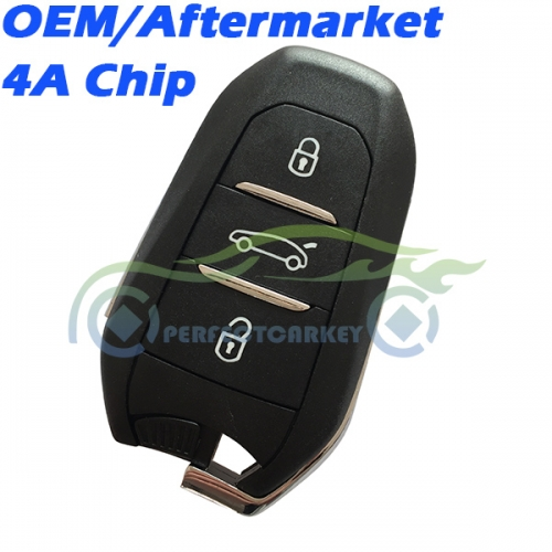 Citroen OEM 4A Chip 433Mhz Keyless Go auto key