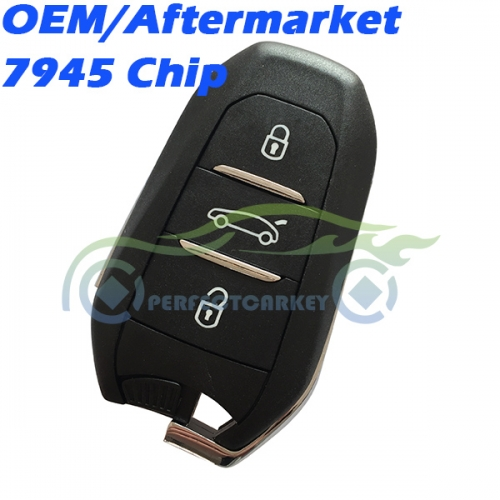 Citroen OEM 7945Chip 433.92Mhz keyless go smart key