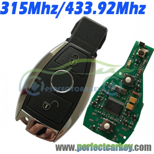 2Button 315Mhz 433.92Mhz BGA type and Nec type 2000year+ car key control auto smart key for Mercedes