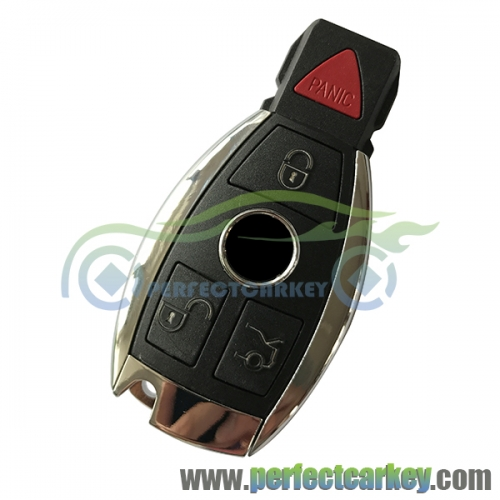 3+1Button 315Mhz 433.92Mhz BGA type and Nec type 2000year+ car key control auto smart key for Mercedes