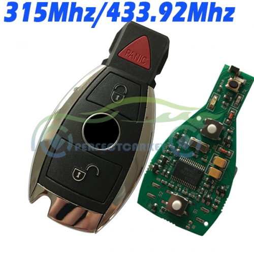 2+1Button 315Mhz 433.92Mhz BGA type and Nec type 2000year+ car key control auto smart key for Mercedes