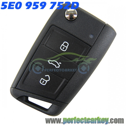 Original 5E0959752D MQB flip remote keys